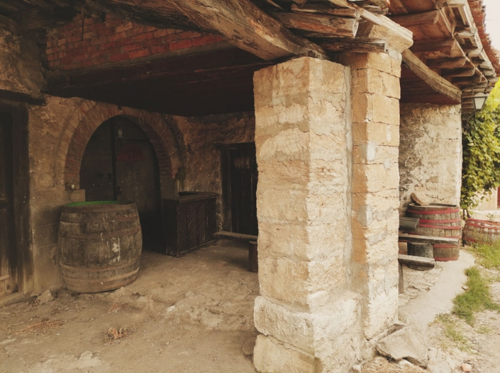 Entrance to the old wine cellar